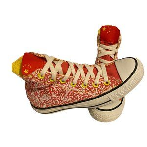 Converse All Star Unisex Red Floral Sneaker M6 W8